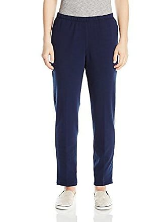 Ruby Rd. Womens Pull-on Stretch French Terry Pants, Navy, XL