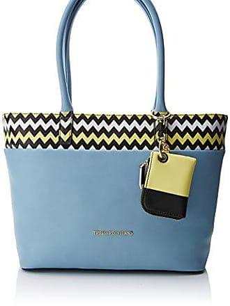 8b6ad1f4048 Trussardi trussardi JEANS Dames Holly Smooth ecoleather Shopping Bag  Schoudertas, blauw (Light Blue)