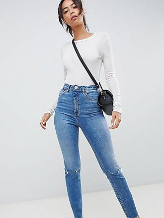 Asos Tall ASOS DESIGN Tall - Farleigh - Stentvättade jeans i mom  jeans-modell med c9051b8eaa879