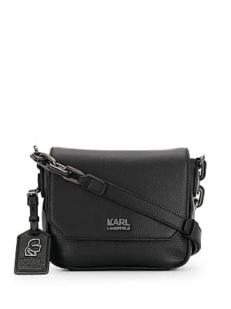 Karl Lagerfeld Bolsa transversal com logo - Preto