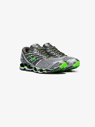 best service 21f32 d82bb Mizuno X Browns grey and green Wave Prophecy 7 sneakers