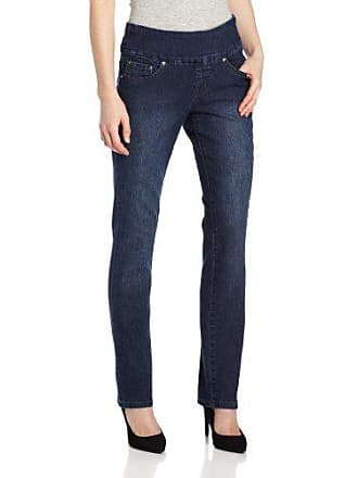 Jag Jeans Womens Petite Peri Straight Pull on Jean, Anchor Blue, 4P