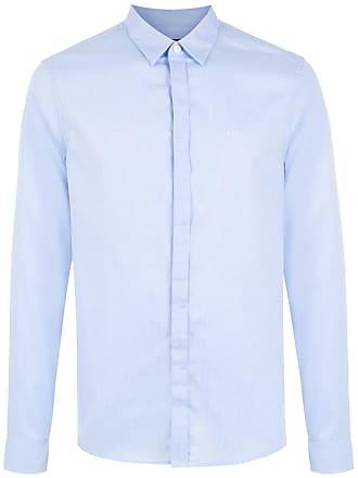 Armani Camisa slim mangas longas - Azul