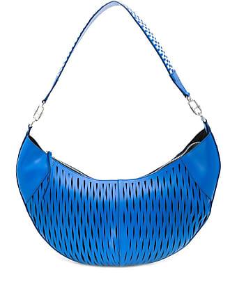 Sonia Rykiel Bolsa tiracolo com recortes à laser - Azul