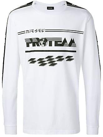 Diesel T-Just-Ls-Race sweatshirt - White