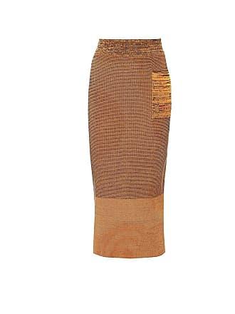 Victoria Beckham Cotton-blend midi skirt