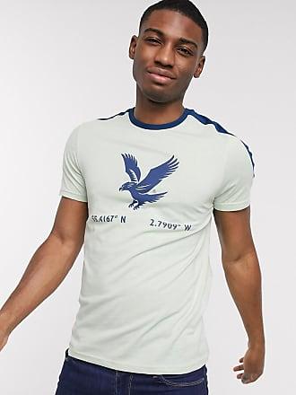 Lyle & Scott T-shirt con stampa di aquila-Beige
