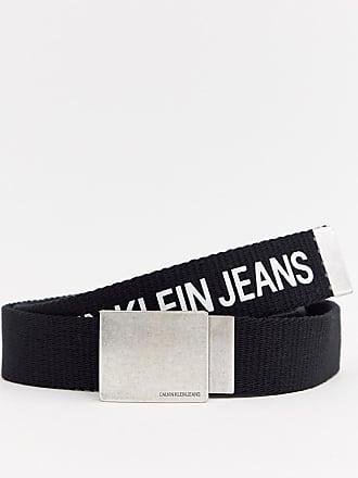 ea5df605b82 Calvin Klein Jeans Ceinture en toile avec logo - Noir