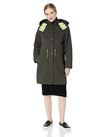 A|X Armani Exchange Womens Layered Drawstring Coat with Hood, g. I. Jane, L