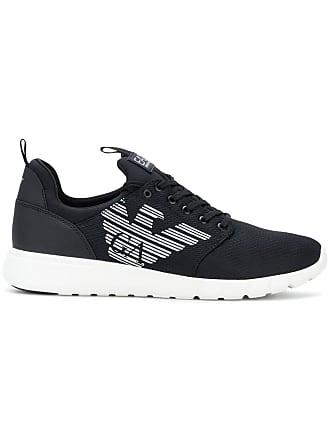 Emporio Armani logo running sneakers - Black