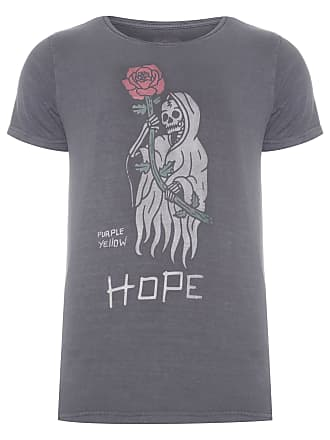 PURPLE YELLOW CAMISETA MASCULINA NO DOPE, NO HOPE - CINZA