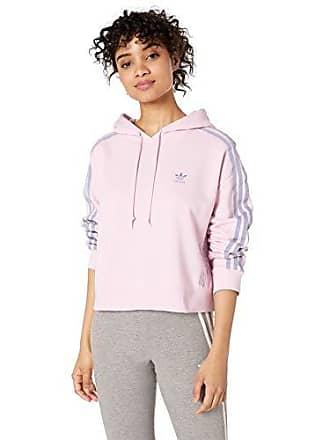 99b513702 adidas Originals Womens Hoodie, Clear/Pink, Medium