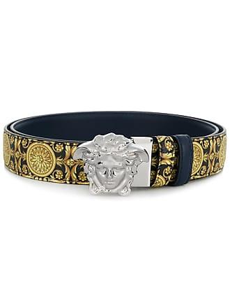 Versace 3D Medusa buckle belt - Yellow