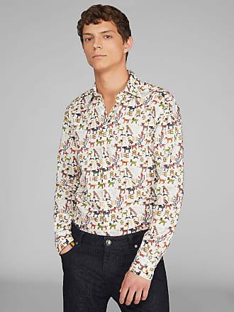 Etro Baumwollhemd Mit Mexikanischen Motiven, Herren, Weiß, Größe 38