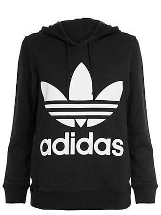 f93799d8a3b adidas Blusa Trefoil Hoodie Adidas Originals - Preto