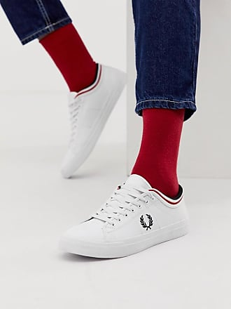 f434456026 Fred Perry Kendrick tipped cuff leather sneakers in white - White
