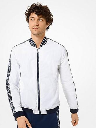 Michael Kors Mens Logo Tape Bomber Jacket