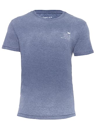Osklen T-SHIRT MASCULINA OVER COLOR STAMP TYPE - AZUL