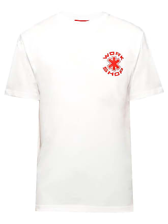 032c White Mens Cosmic Workshop Particle Logo Print T-shirt - The Webster