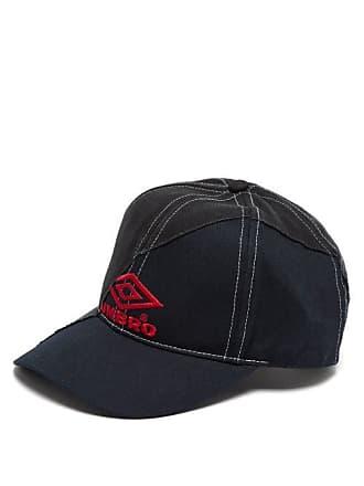 ba366fb7f88764 VETEMENTS X Umbro Logo Embroidered Canvas Cap - Mens - Black
