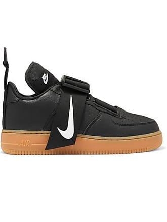 ac83dfb19980ae Nike Baskets En Piqué Et En Cuir Lisse Et Texturé Air Force 1 Utility - Noir