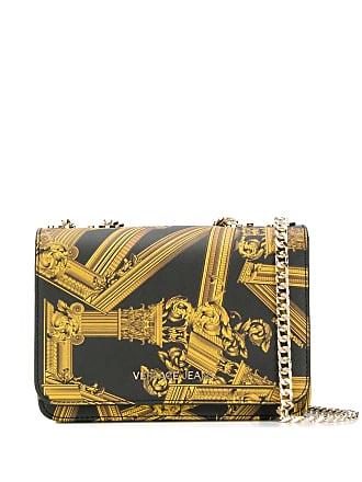 d3708e2b28ccb Versace Jeans Couture column print shoulder bag - Black