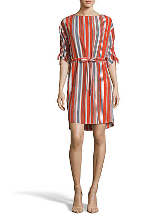 5twelve Striped Waist-Tie Shift Dress