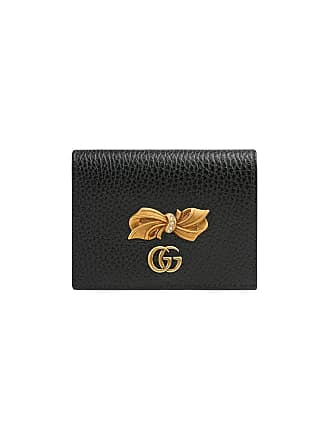 5c886ae183e Gucci Leather card case with bow - Black