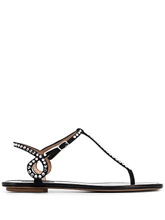 Aquazzura Sandália com aplicações - Preto