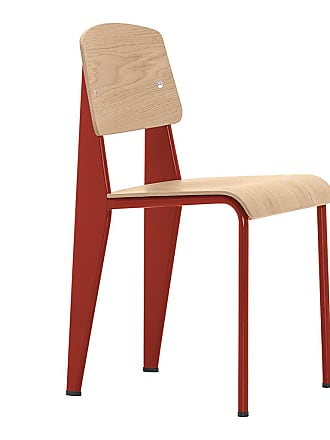 Vitra Standard Chair Red & Oak
