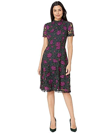 c0ce1f82 Tahari by ASL Lace Fit and Flare Dress (Navy/Fuchsia/Olive) Womens