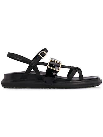 Marni strappy Fussbett sandals - Black