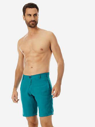 Vilebrequin Men Ready to Wear - Men straight Linen Bermuda Shorts Solid - BERMUDA - BARON - Green - XXXL - Vilebrequin