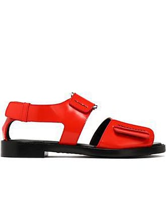 814398401814 3.1 Phillip Lim 3.1 Phillip Lim Woman Addis Buckled Glossed-leather Sandals  Red Size 37.5