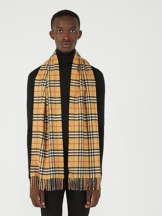 630c8afb4a9 Burberry Écharpe homme classique en cachemire à motif Vintage check Marron  Burberry