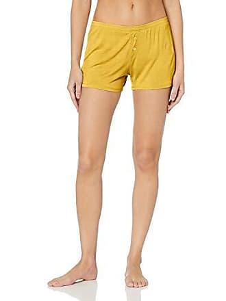 PJ Salvage Womens Lounge Essentials Short, Yellow, Large