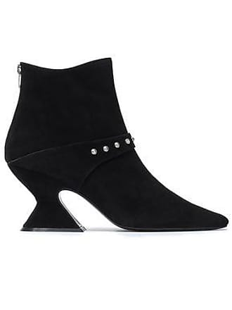 5924a4bc2358 DORATEYMUR Dorateymur Woman Studded Suede Ankle Boots Black Size 35
