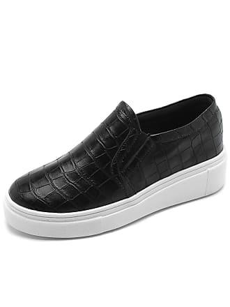 82397b42b5 Dafiti Slip On Flatform DAFITI SHOES Croco Preto