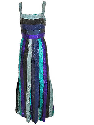 11ad740307 Hubert de Givenchy Givenchy Spaghetti Strap Blue Sequins Cocktail Dress