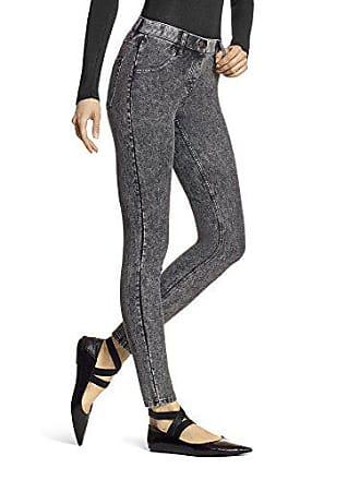 Hue Womens Essential Denim Leggings, Powdered Black Wash, X-Small