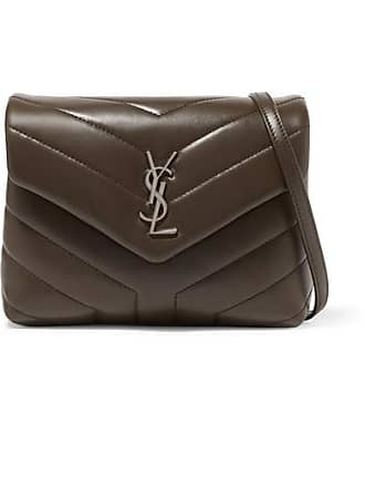 e839c09913d6 Saint Laurent Loulou Toy Quilted Leather Shoulder Bag - Brown
