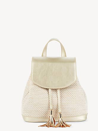Sole Society Womens Suki Shoulder Fabric Backpack With Tassel Detail Gold Combo One Size Vegan Leather Cotton From Sole Society