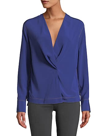 d75e013129b6db Rag & Bone Shields Drape-Front Silk Long-Sleeve Blouse