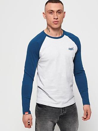slim fit Essentials con collo Henley maglietta a maniche lunghe da uomo