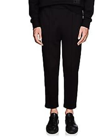 b36555b8d634 Prada Mens Taped-Striped Cotton Sweatpants - Black Size L