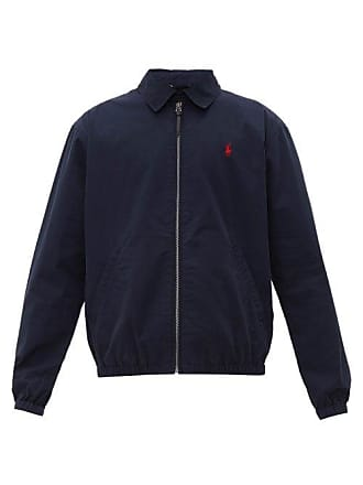 Polo Ralph Lauren Logo Embroidered Brushed Cotton Poplin Windbreaker - Mens - Navy