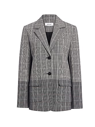 Derek Lam Two-toned Plaid Flannel Oversized Blazer Check Multi
