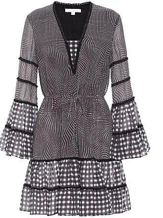 Jonathan Simkhai Checkered chiffon dress