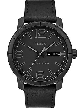 Timex Watch Mens Mod44 44MM Leather Strap Black Item Tw2R64300Jt