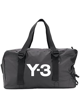 Yohji Yamamoto logo gym bag - Preto
